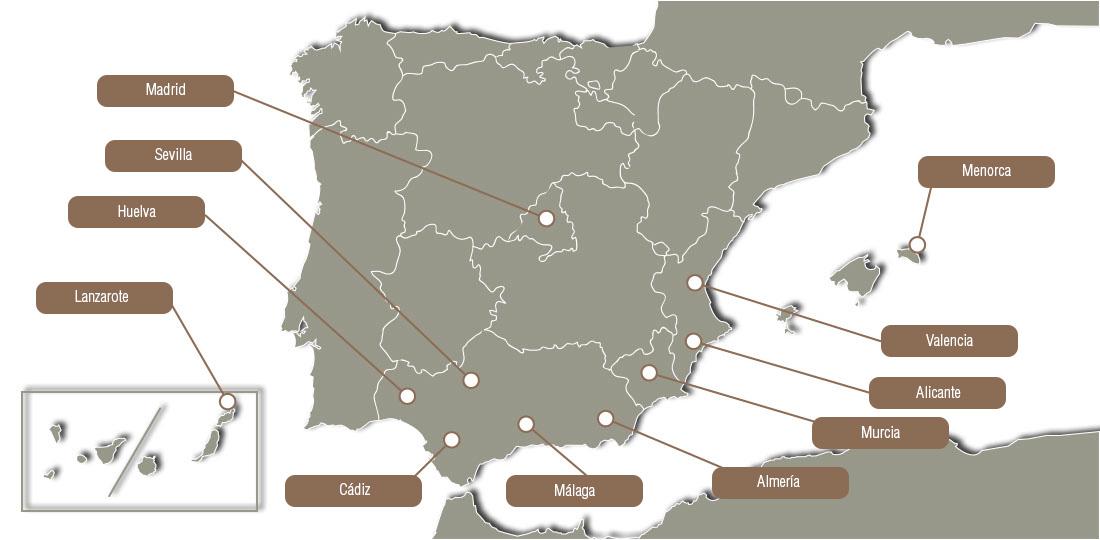 sombrilla brezo mapa